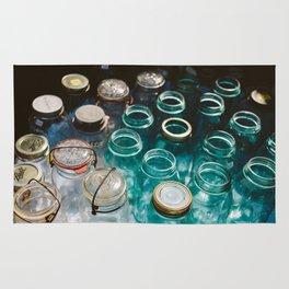 Ball Jars in Blue Rug