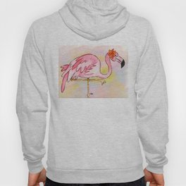 Pretty Pink Flamingo Hoody