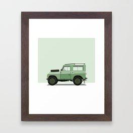 Car illustration - land rover defender Framed Art Print