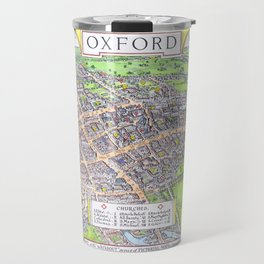 OXFORD university map ENGLAND dorm decor Travel Mug