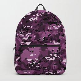 Magenta Purple Popular Multi Camo Pattern Backpack