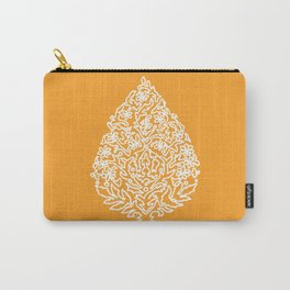 Moroccan Paisley in Autumn Orange Carry-All Pouch