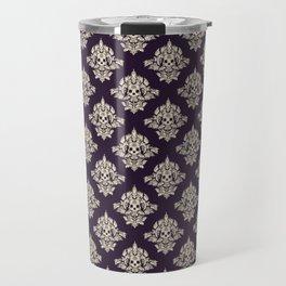 Purple Vintage Skull Pattern Travel Mug