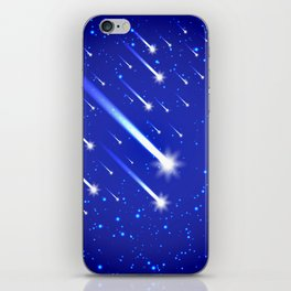 Space background with stars and comets iPhone Skin