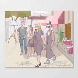 Saturday morning in Paris Canvas Print