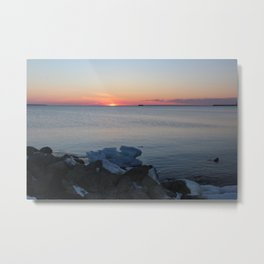 Late winter - early spring sunset Metal Print