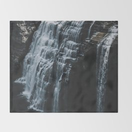 Middle Letchworth Falls Throw Blanket