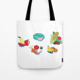 Fruits and Veggies Tote Bag
