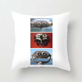 E.T., Optimus Prime, and Jar Jar Binks Throw Pillow