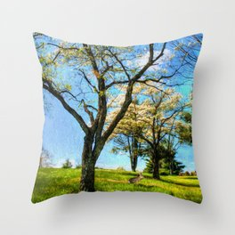 Under the Dogwoods Throw Pillow