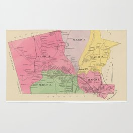 Vintage Map of Keene New Hampshire (1892) Rug
