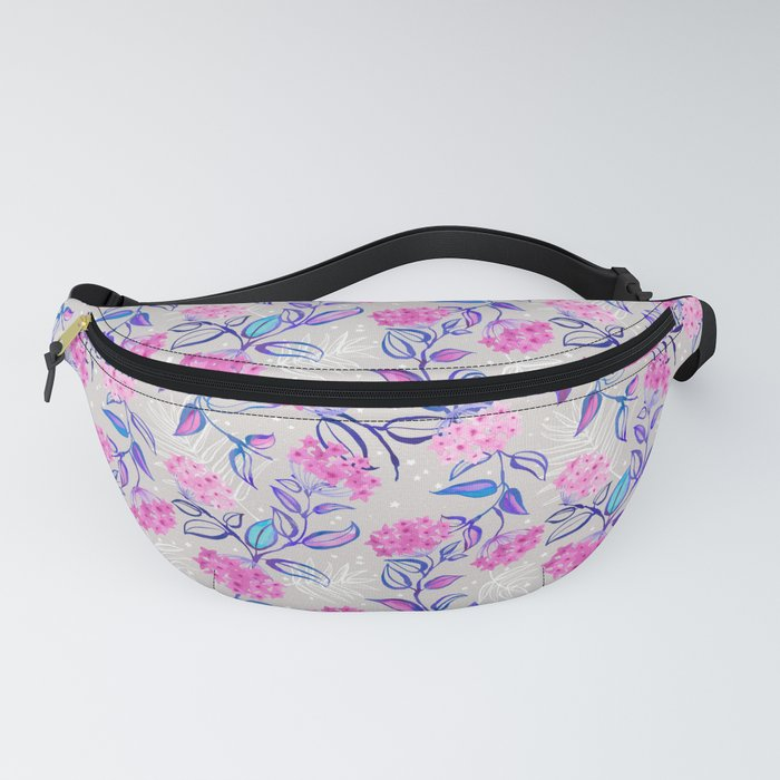 Watercolor Blooming Wax Plant Fanny Pack
