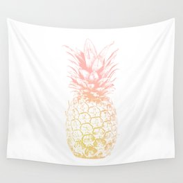 Pink and Yellow Pineapple Wall Tapestry