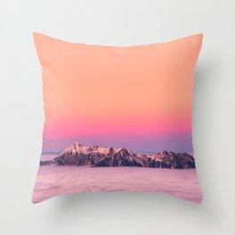 Silence over the Mountains Throw Pillow