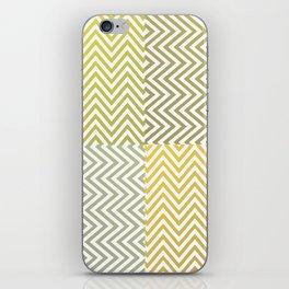 Geometric Lines Pattern Yellowish iPhone Skin