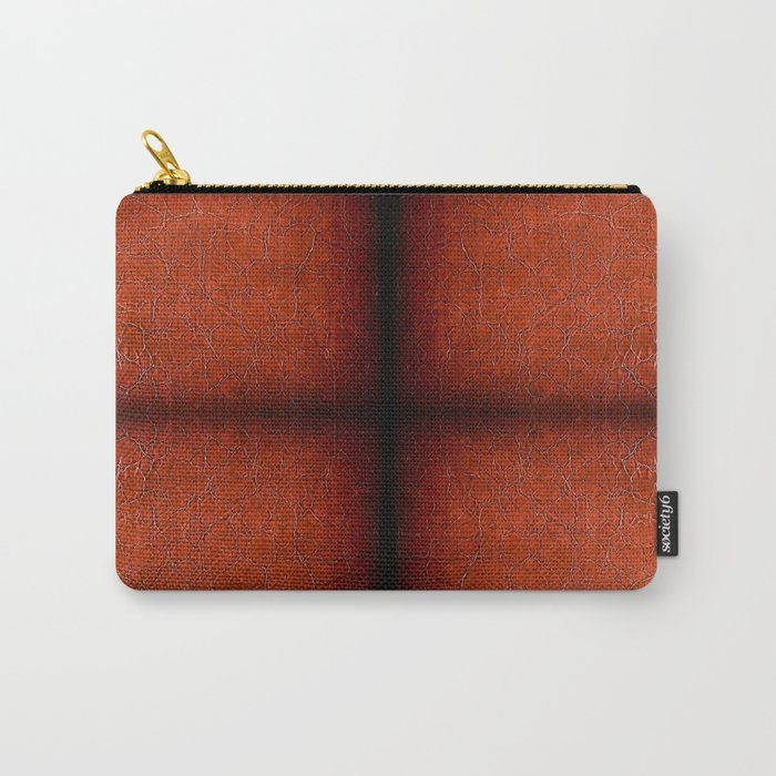 Brown puckered leather material abstract Carry-All Pouch