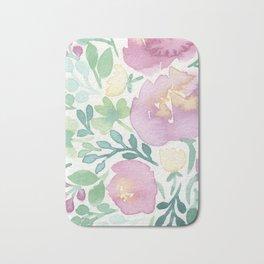 Pink and Green Bath Mat