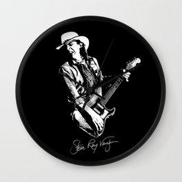 Stevie Ray Vaughan - Guitar-Blues-Rock-legend Wall Clock