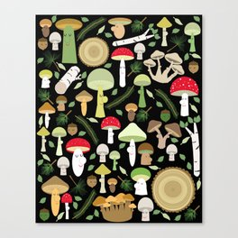A Walk In The Forest Canvas Print