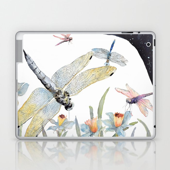 Good Night Surreal Dragonfly Artwork Laptop & iPad Skin
