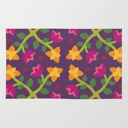Baltimore Woods Floral Cross Pattern Rug