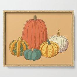 Fall Pumpkins Serving Tray