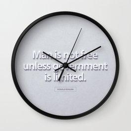 President Ronald Reagan Quote Wall Clock