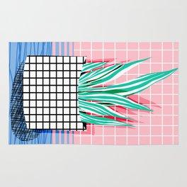 Glam - pop art memphis neon house plants throwback retro 80s style cool brooklyn style minimalism Rug