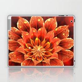 Red Dahlia Fractal Flower with Beautiful Bokeh (Vivid Crimson) Laptop & iPad Skin