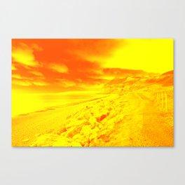 Yellow Coast  Canvas Print