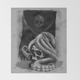 Pirate Tentacle Throw Blanket