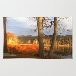 Delaware River Glowing Fall Foliage Rug