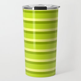 Lime Green Stripes Travel Mug