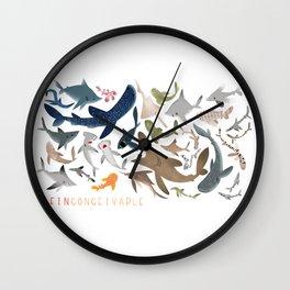 """FINconceivable Still """"Sharks"""" Wall Clock"""
