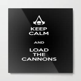 Load the Cannons Metal Print