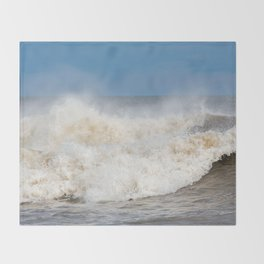 Stormy Ocean waves seascape Throw Blanket
