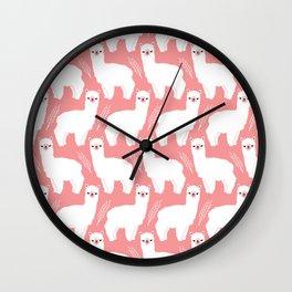 The Alpacas II Wall Clock