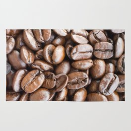 Coffee beans background Rug