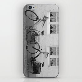 Bicycles in Bruges iPhone Skin