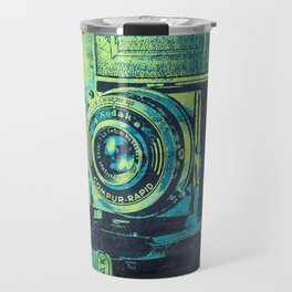 Green Retro Vintage Kodak Camera Travel Mug