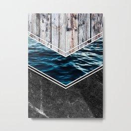 Striped Materials of Nature IV Metal Print