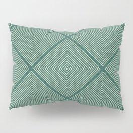 Stitched Diamond Geo Grid in Green Pillow Sham