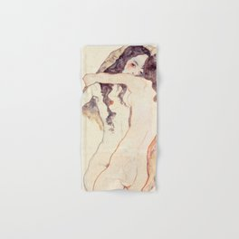 Egon Schiele Two Women Embracing Hand & Bath Towel