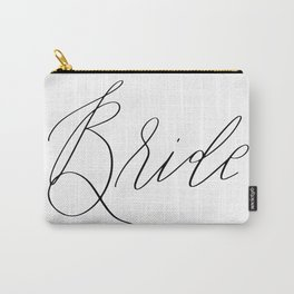 Lettered Bride Carry-All Pouch