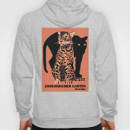 Retro vintage Munich Zoo big cats Hoody