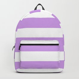 Bright ube - solid color - white stripes pattern Backpack