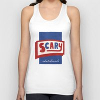 scary Tank Tops featuring Scary by Lance Turner