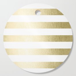 Simply Striped Gilded Palace Gold Cutting Board