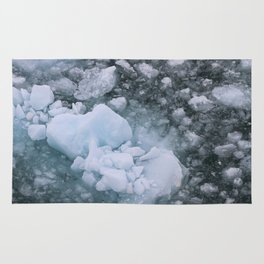 Ice And Snow Abstract Art By Nature Rug