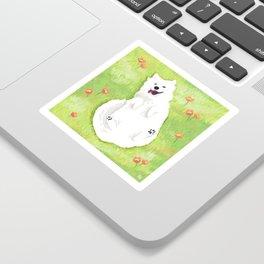 Happy Samoyed Sticker